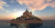 Mont-Saint-Michel / InWorldz http://places.inworldz.com/Mont%20Saint%20Michel%2002/11/8/24