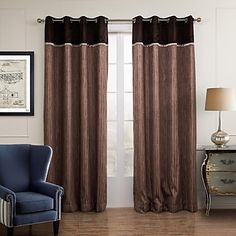 Two+Panels+Curtain+Designer+,+Solid+Living+Room+Poly+/+Cotton+Blend+Material+Sheer+Curtains+Shades+Home+Decoration+For+Window+–+USD+$+52.69