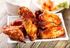 Crispy Baked Chicken Wings-Baking wings yields crisp skin without the mess and constant tending of frying. Divide the wings between our two sauces, or double one sauce recipe and use it on all 60 wings. Crispy Baked Chicken Wings, Air Fryer Chicken Wings, Glazed Chicken, Cooked Chicken, Chicken Pizza, Skillet Chicken, Keto Chicken, Butter Chicken, Creamy Chicken