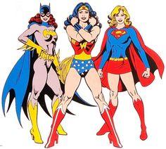 Batgirl, Wonder Woman, Supergirl all by Jose Luis Garcia-Lopez Comic Book Superheroes, Comic Book Characters, Comic Character, Comic Books Art, Dc Comics, Comics Girls, Batgirl, Batwoman, Supergirl Comic