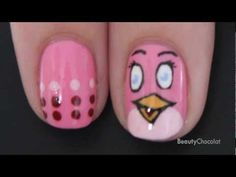 Pink Bird Nails - Wanna have it!!:)