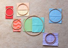 how to- fabric in embroidery hoops with strong backing.