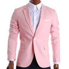 Mens Slim Fit Suits Casual Solid Lightweight Blazer Jackets One Button Flap Pockets Casual Blazer, Designer Clothes For Men, Designer Clothing, Sharp Dressed Man, Uk Fashion, Street Fashion, Fashion Ideas, Slim Man, Look Chic