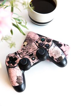 Rose Quartz Floral PlayStation Gaming Skin. Shop now at www.skinit.com