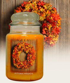 Autumn Wreath - Premium Round Scented Candles | Village Candle