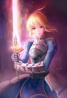 Pixiv Id 11528515, Fate/stay night, Saber, Signature