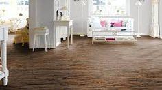 Dark Chocolate Brown Cork Flooring in an all white, traditional living room Cheap Wooden Flooring, Gray Wood Laminate Flooring, Vinyl Wood Planks, Installing Laminate Flooring, Engineered Wood Floors, Choices Flooring, Flooring Cost, Cork Flooring, Basement Flooring