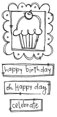 SA Doodle Frame - Cupcake - purpleoniondesigns
