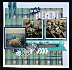 layout by Brenda Rose using CTMH Later Sk8r paper