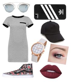 """""""Dress Down"""" by icemaoffical on Polyvore featuring Christian Dior, Vans, rag & bone, adidas, Lime Crime and MARA"""