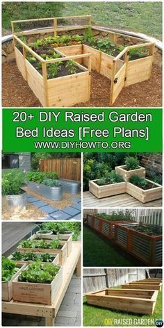 More than 20 #DIY Raised Garden Bed Ideas Instructions [Free Plans] from Cinder block garden bed to wood garden bed and garden tower! #Gardening-->> http://www.diyhowto.org/diy-raised-garden-bed-ideas/ #towergardenideas #gardenbeds #raisedgardens