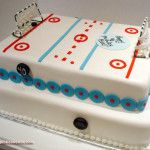 Two-Tier Hockey Rink Cake » Celebration Cakes