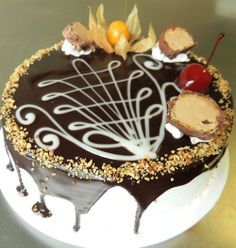 torta sonho de valsa com desenho na cobertura