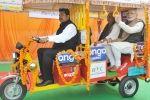 Modi distributes electric rickshaws in Lucknow