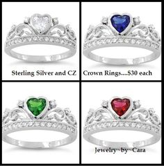 Another HUGE SELLER!!!!  Sterling Silver and CZ Heart Crown Ring.....$30 www.facebook.com/groups/jewelrybycara
