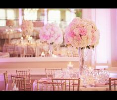 Wedding Design by Ambiance Chic Wedding Designs, flowers by Candi's Floral Creations. Peonies Wedding Centerpieces, Wedding Arrangements, Floral Arrangements, Chic Wedding, Floral Wedding, Champagne Wedding Colors, Jewish Wedding Ceremony, Pink And White Weddings, Wedding Designs