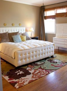 Like this tufted bed from Z-galleries. From Design Improvised
