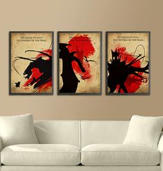 The Lord of the Rings Trilogy Poster Set 11X17