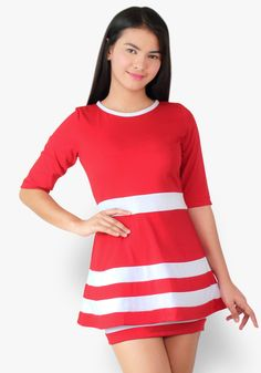 Have all the fun and perks of wearing this color block dress. The peplum style makes you look festive, chic and bubbly effortlessly! Colorblock Dress, Peplum Dress, Designer Party Dresses, Festive, Casual Dresses, Cotton Fabric, How To Make, How To Wear, Chic