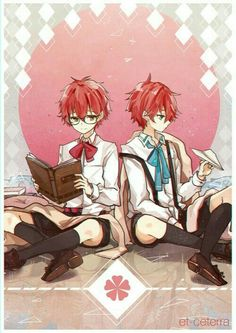 707, Luciel, Saeyoung, Saeran, Unknown, Choi twins, brothers, young, childhood, cute, reading, book, paper airplane; Mystic Messenger