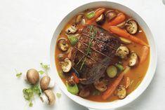 Savoury%20Mushroom%20Pot%20Roast Pot Roast Recipes, Beef Recipes, Dinner Recipes, Cooking Recipes, Golden Mushroom Soup, Meat Lovers, I Love Food, Stuffed Mushrooms, Canada