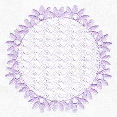 Free Embroidery Design: Lavender Delight Border Frame - I Sew Free