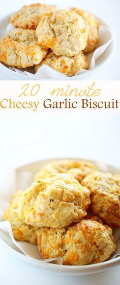 cheesy garlic biscuits: these were super easy and fast! they turned out great and I love that you can adapt different flavors into it. maybe add some jalapeños and chives even!