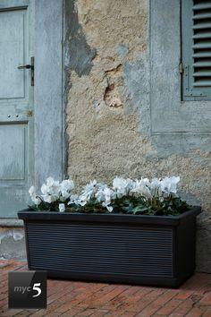 Jardinera Mod. MILLERIGUE Rectangular #macetas #jardineras #decoracion #antracita #rectangular