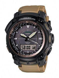 Casio Men Watches : Casio Men's PRW5050BN-5 ProTrek Multi-Function Atomic Timekeeping Watch Casio Protrek, Sport Watches, Cool Watches, Watches For Men, Men's Watches, Luxury Watches, Android Watch, Casio G Shock, Casio Watch