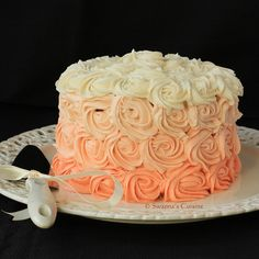 I love this ombre cake! Something simple and easy like this is all we would need.