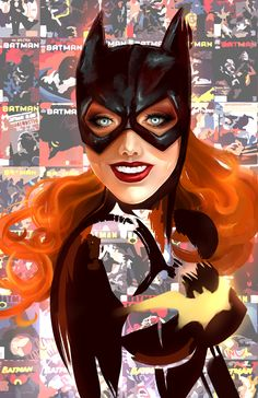 Barbara Gordon a.a Batgirl Illustration by: Whitney Jiar Batwoman, Nightwing, Dc Batgirl, Comic Book Characters, Comic Character, Comic Books Art, Comic Art, Character Sketches, Marvel Characters