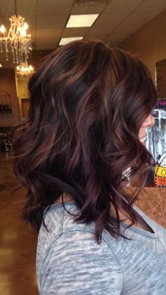 43 trendy hair color ideas for brunette hairstyles beauty . Hair Color Ideas For Brunettes Beauty brunette Color Hair Hairstyles Ideas trendy Hair Color And Cut, Ombre Hair Color, Brown Hair Colors, Red Ombre, Fall Hair Color For Brunettes, Brown Hair With Red Highlights, Red Purple, Hair Color Auburn, Hair Colors For Fall