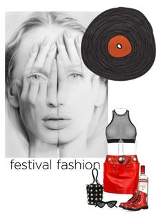 """festival fashion"" by izoche ❤ liked on Polyvore featuring Issey Miyake, Dsquared2, Accessorize, Gotta Flurt, Alexander Wang and Le Specs"