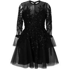 Elie Saab embellished tulle dress (1.939.460 HUF) ❤ liked on Polyvore featuring dresses, black, elie saab cocktail dresses, elie saab dresses, embellished dress, embellished cocktail dresses and tulle dress