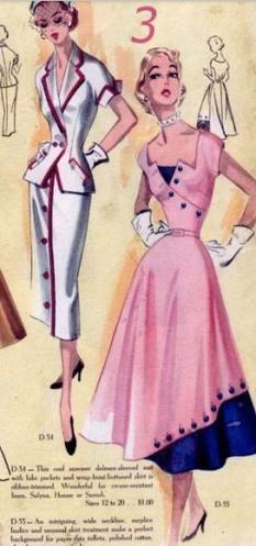 Vintage modes royale one piece dress sz 16 Moda Vintage, Vintage Dress Patterns, Vintage Dresses, Vintage Clothing, 1950s Dresses, 1950s Fashion, Vintage Fashion, Club Fashion, Trendy Dresses