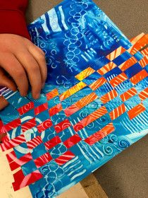 art with a middle school mentality Middle School Art, Art School, High School, Nature Collage, 4th Grade Art, Paper Weaving, School Art Projects, Weaving Projects, Art Lessons Elementary
