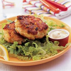 Salmon Cakes with Soy-Ginger Mayonnaise via Good Housekeeping