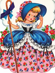 Wherever have her sheep gone? #vintage #illustrations #Little_Bo_Peep