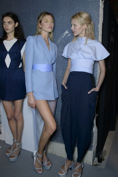 Blues | Vionnet #style #fashion #backstage