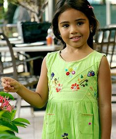 Another great find on #zulily! Lime Leonor Dress - Infant, Toddler & Girls by Little Cotton Dress #zulilyfinds