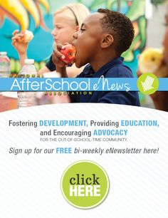 Afterschool tips and tools delivered directly to your in-box! Sign up for our free e-newsletter today. http://naaweb.org/free-enewsletter