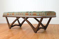 Mid Century Pendleton Blanket Bench
