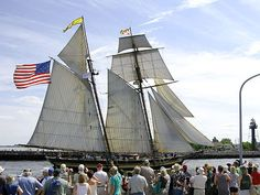tall ships festival and lift bridge at Duluth MN, google it for date usually in July