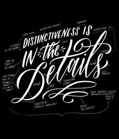 Distinctiveness is in the Details - Molly Jacques