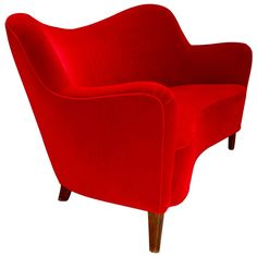 Nana Ditzel Two-Seat Sofa   From a unique collection of antique and modern loveseats at https://www.1stdibs.com/furniture/seating/loveseats/