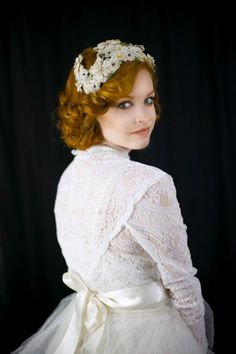 Pretty Bridal Headpiece   Wedding Trousseau by SalvatoCollection