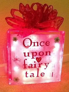 Personalized Glass Light up Block Light by LiteUpMyLife on Etsy, $28.00