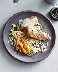 Chicken Breasts with Orzo, Carrots, Dill, and Avgolemono Sauce | Food & Wine