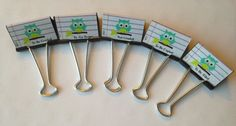 Teacher Gift Organizer Binder Clips Gift by SoSweetGiftBoutique, $8.00