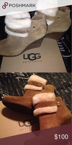 Ugg booties Super cute ugg booties only worn 3 times so in perfect condition basically new! UGG Shoes Ankle Boots & Booties